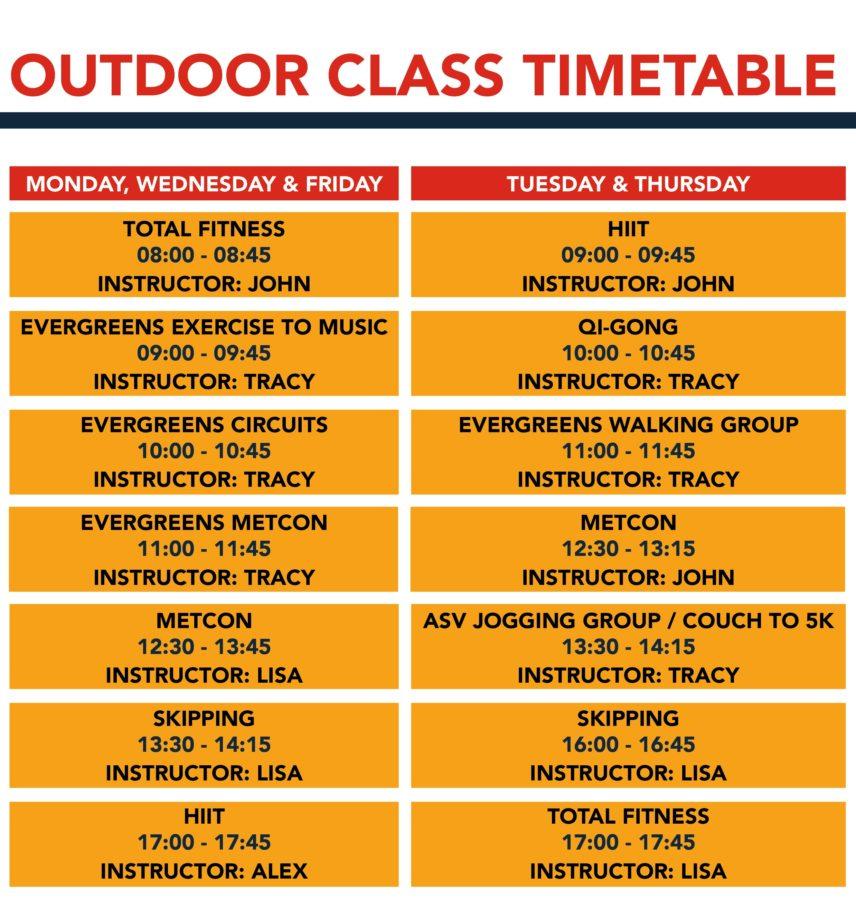 ASV Outdoor Exercise Timetable no blue box